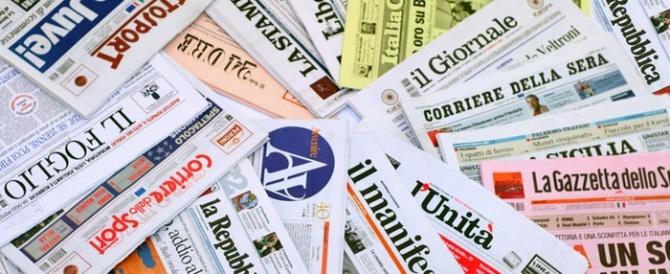 Le prime pagine dei quotidiani che sono in edicola oggi 9 gennaio 2016