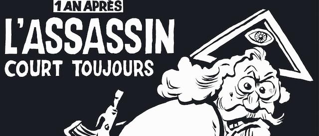 A un anno dalla strage,  Charlie Hebdo sbeffeggia il Dio cristiano ed evita Allah
