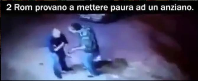 Rom provano ad aggredire un anziano ma vengono messi ko (video)
