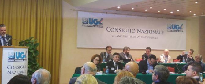 Capone chiude il Consiglio nazionale Ugl: «Nel 2016 grandi battaglie»