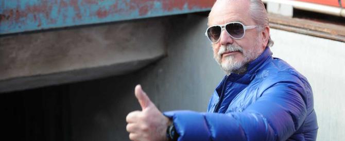 Aurelio De Laurentiis sbrocca e prende  a male parole la giornalista Rai (Video)