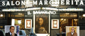"""Berlusconi al """"Bagaglino"""": abbraccio con Pingitore, applausi alla satira di destra"""