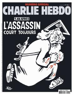 Cover of the Charlie Hebdo issue 06 January 2016