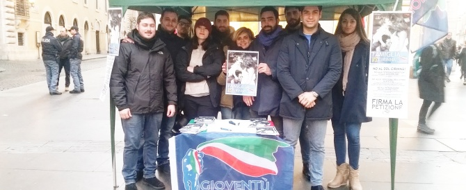 Gioventù Nazionale lancia la raccolta di firme contro il ddl Cirinnà