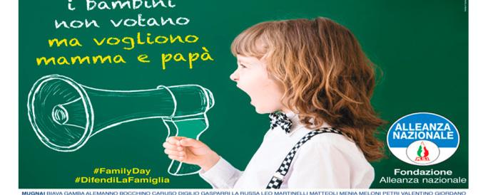 Family Day, aderisce anche la Fondazione Alleanza Nazionale