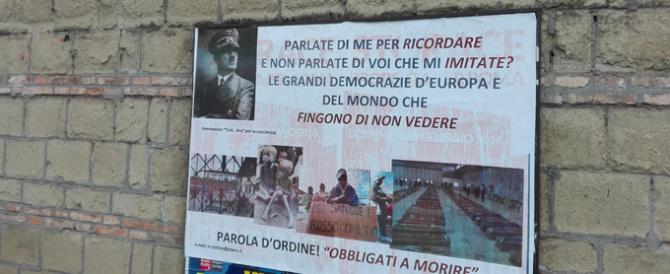 A Roma compaiono (per la seconda volta…) manifesti col volto di Hitler