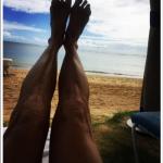E' questa foto delle gambe di Melanie ad avere scatenato la polemica. (Foto Instagram)