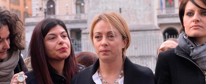 Insulti a Giorgia Meloni, la condanna della Boldrini: «Onda di volgarità»