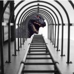 C'è pure Godzilla.(Foto Facebook)