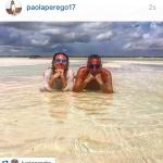 Insieme al marito, l'agente Lucio Presta. (Foto Instagram)