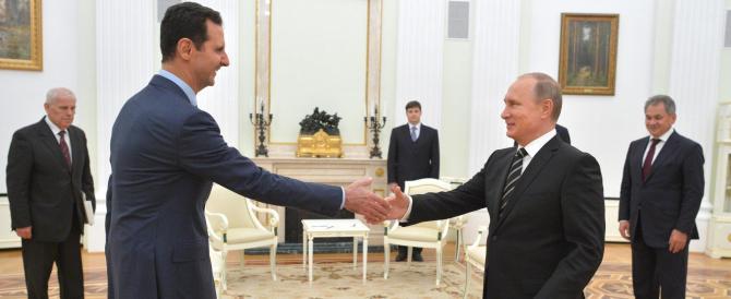 Putin difende le ragioni di Assad: «Contro di lui un golpe ideato all'estero»