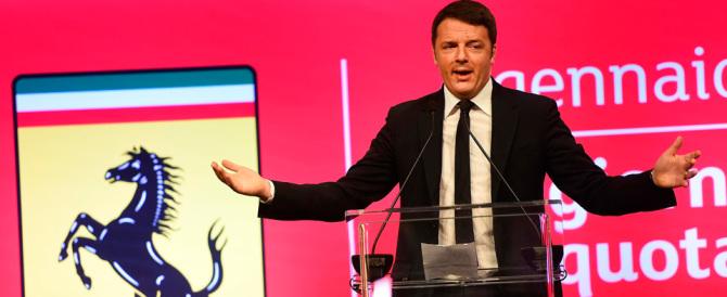 Renzi impoverisce il Paese, poi dice: «Basta stare col cappello in mano»