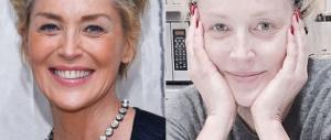 "Addio ""Basic Instinct"": Sharon Stone si svela senza trucco (Fotogallery)"