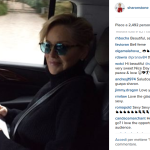 Sharon Stone in automobile, oggi. (Foto Instagram)