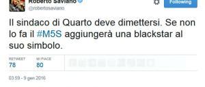 Voti & camorra, Saviano chiede le dimissioni del sindaco di Quarto