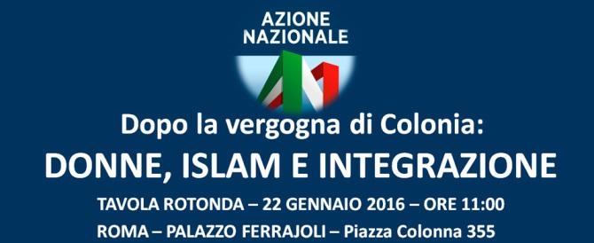 Azione Nazionale, convegno su donne, islam e integrazione dopo Colonia