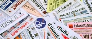 Le prime pagine dei quotidiani che sono in edicola oggi 12 febbraio 2016