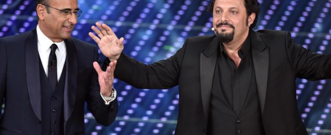 Sanremo, perché tante critiche a Brignano? Non ha difeso la famiglia gay…