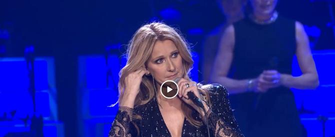 Il video che ha commosso il web: Celine Dion in lacrime per il marito