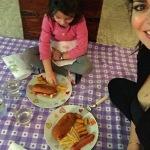 L'ex moglie dell'attore toscano, con la loro figlia, Martina. (Foto Instagram)