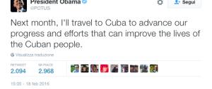 Obama: «Andrò a Cuba a marzo». Ira dei repubblicani: «Una visita assurda»