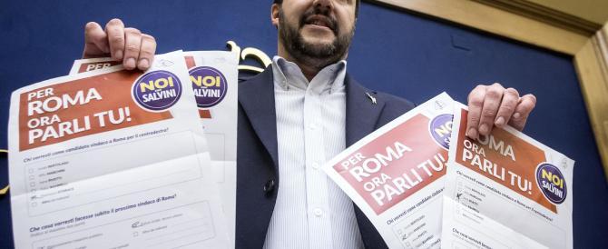 """Salvini: """"A Roma se non ci uniamo siamo destinati a perdere"""""""