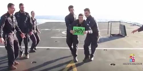 """È la più amata dagli italiani: la Marina Militare ringrazia col video """"Happy!"""""""
