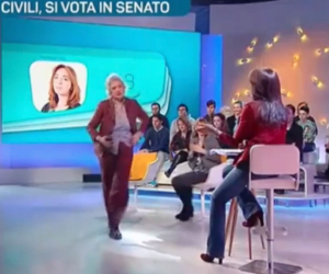 """""""Dove lo metti il semino?"""". Lite Mussolini-Concia in diretta tv (VIDEO)"""