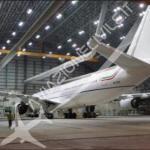 """Ecco la fusoliera del nuovo aereo """"blu"""". (Foto aviazionecivile.it,)"""
