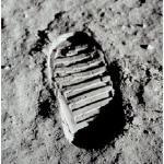 L'impronta del primo uomo sulla luna. (Foto Instagram)