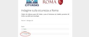 """Lo strano questionario del Comune di Roma:  """"Sei uomo, donna o trans?"""""""