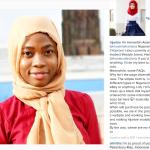 L'inventrice della bambola, Haneefa Adam, fresca di un Master in farmacologia in Gran Bretagna. (Foto Instagram)