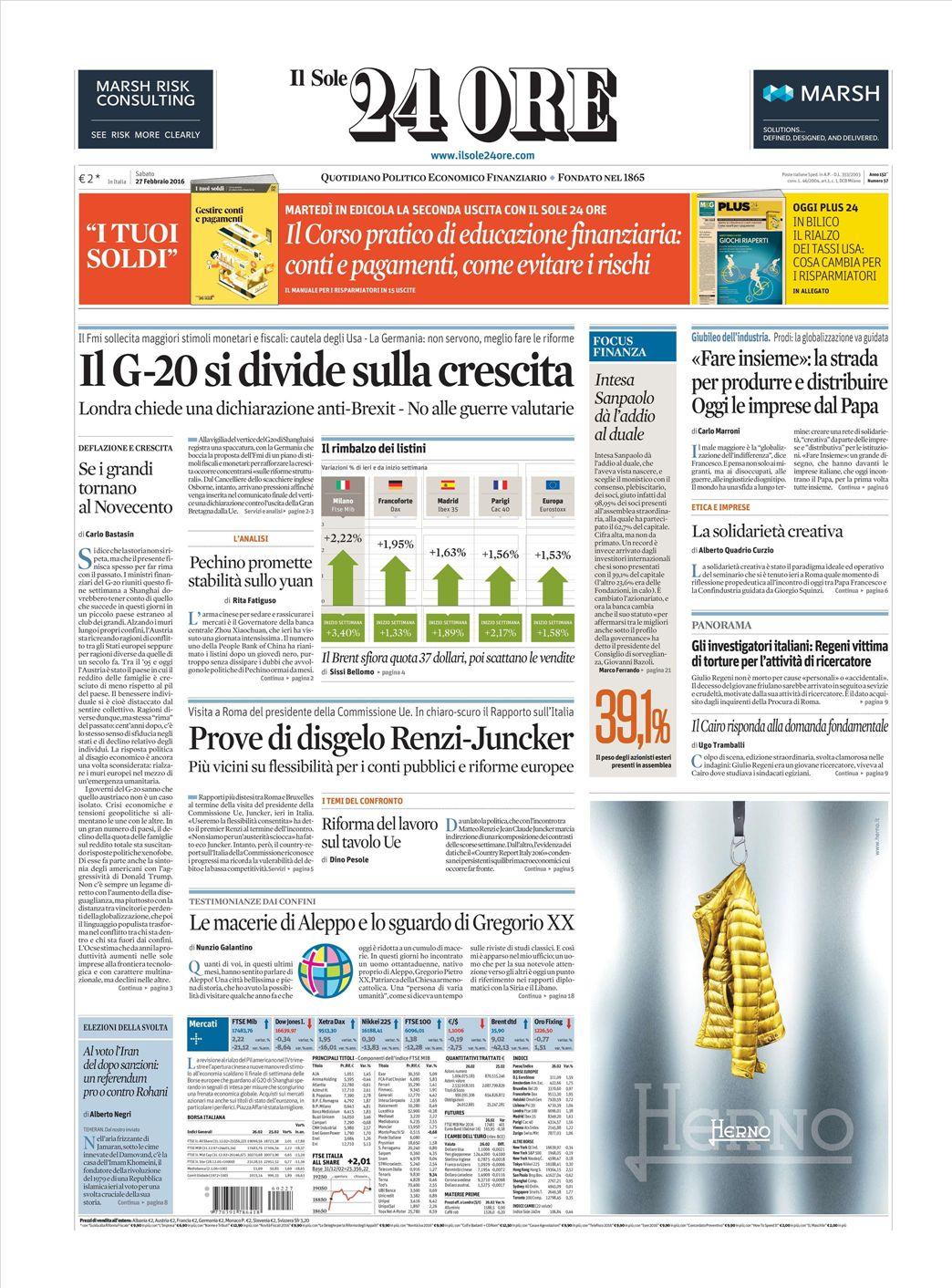 Fairview Heights Il >> Le prime pagine dei quotidiani che sono in edicola oggi 27 ...
