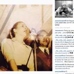La replica spiritosa di Paola Barale, che ha pubblicato una vecchissima foto della cantante...  (Foto Instagram)