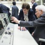 Il presidente Mattarella nella sede della Nasa.  (Foto Instagram)