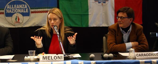 Meloni a Bologna: «Alfano contrario alle unioni gay? Allora si dimetta»