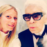 Con lo stilista Karl LAgerfeld.  (Foto Instagram)