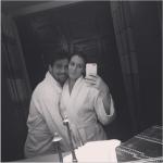 Alla Spa; la foto la scatta lei. (Foto Instagram)