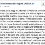La dedica di Leonardo Pieraccioni su Facebook.