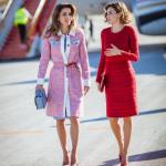 Rania di Giordania con la regina di Spagna, in una foto pubblicata dalla prima su Instagram. (Foto Instagram)