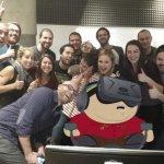Ecco il primo scatto photoshoppato; il Duca diventa un cartoon...  (Foto Facebook)
