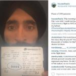"""La denuncia: """"Non mi fanno partire perchè mi sono rifiutato di togliere il turbante"""" (Foto Instagram)"""
