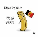 """""""Fate le patatine fritte, non la guerra"""". (Foto Twitter)"""