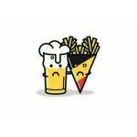 Una birra e le patatine fritte del Belgio; tristi per ,l'accaduto, si stringono. (Foto Twitter)
