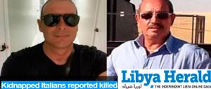 """Dalla Libia: """"Failla e Piano sono stati uccisi con un colpo alla nuca"""""""