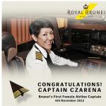 Czarena è stata la prima pilota donna capitato della compagnia aerea. (Foto Instagram)