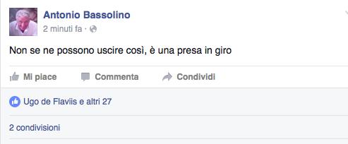 Secondo no al ricorso, Bassolino minaccioso: «Il Pd mi prende in giro»