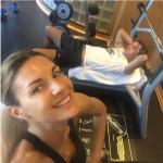 L'ex miss Italia è attivissima sul social delle foto e lei e il marito pubblicano spessissimo fotografie insieme. Eccoli mentre si allenano. (Foto Instagram)