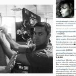 La moglie dell'ex calciatore, Martina Colombari, ha ripubblicato la foto, chiarendo che, ovviamente, si trattava di uno scherzo. (Foto Instagram)