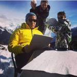 Risate in famiglia; lui lavora, Martina e il bimbo... (Foto Instagram)